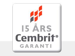 15 års Cembrit produktgaranti